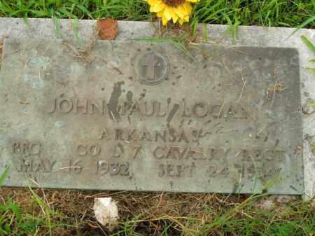 LOGAN  (VETERAN), JOHN PAUL - Boone County, Arkansas | JOHN PAUL LOGAN  (VETERAN) - Arkansas Gravestone Photos