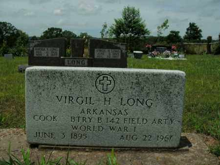 LONG  (VETERAN WWI), VIRGIL H. - Boone County, Arkansas | VIRGIL H. LONG  (VETERAN WWI) - Arkansas Gravestone Photos