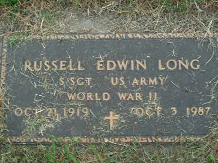 LONG  (VETERAN WWII), RUSSELL EDWIN - Boone County, Arkansas | RUSSELL EDWIN LONG  (VETERAN WWII) - Arkansas Gravestone Photos