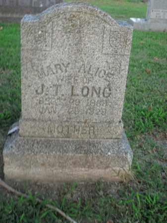 LONG, MARY ALICE - Boone County, Arkansas | MARY ALICE LONG - Arkansas Gravestone Photos
