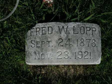LOPP, FRED W. - Boone County, Arkansas | FRED W. LOPP - Arkansas Gravestone Photos