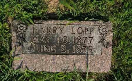 LOPP, HARRY - Boone County, Arkansas   HARRY LOPP - Arkansas Gravestone Photos