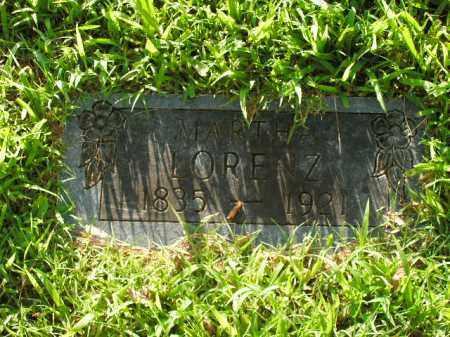 LORENZ, MARTHA - Boone County, Arkansas | MARTHA LORENZ - Arkansas Gravestone Photos