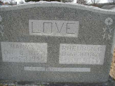 LOVE, MARY E. - Boone County, Arkansas   MARY E. LOVE - Arkansas Gravestone Photos