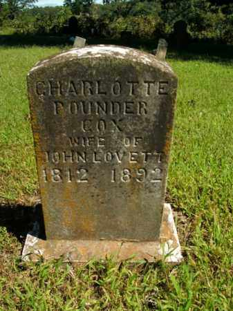 LOVETT, CHARLOTTE POUNDER - Boone County, Arkansas | CHARLOTTE POUNDER LOVETT - Arkansas Gravestone Photos
