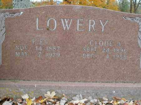 LOWERY, CLODE A. - Boone County, Arkansas | CLODE A. LOWERY - Arkansas Gravestone Photos