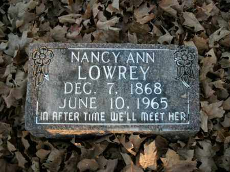 LOWREY, NANCY ANN - Boone County, Arkansas | NANCY ANN LOWREY - Arkansas Gravestone Photos