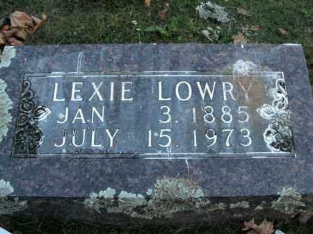 LOWRY, LEXIE - Boone County, Arkansas | LEXIE LOWRY - Arkansas Gravestone Photos