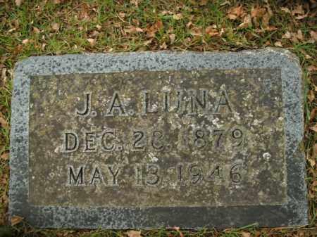 LUNA, J.A. - Boone County, Arkansas | J.A. LUNA - Arkansas Gravestone Photos