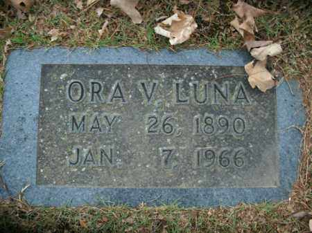LUNA, ORA V. - Boone County, Arkansas   ORA V. LUNA - Arkansas Gravestone Photos