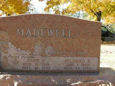 MADEWELL, JOHN F. - Boone County, Arkansas | JOHN F. MADEWELL - Arkansas Gravestone Photos