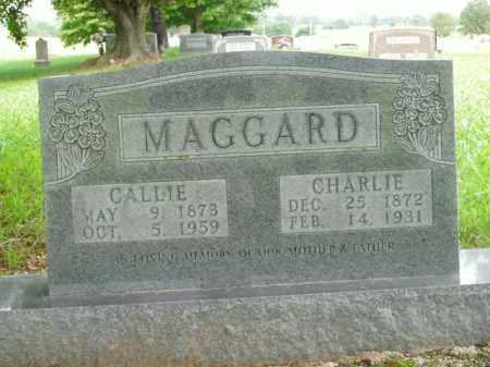 MAGGARD, CHARLIE - Boone County, Arkansas | CHARLIE MAGGARD - Arkansas Gravestone Photos