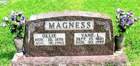 MAGNESS, OLLIE - Boone County, Arkansas | OLLIE MAGNESS - Arkansas Gravestone Photos