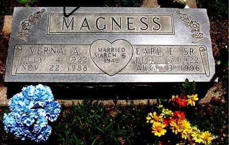 MAGNESS, VERNA A. - Boone County, Arkansas | VERNA A. MAGNESS - Arkansas Gravestone Photos