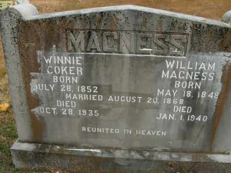 COKER MAGNESS, WINNIE - Boone County, Arkansas | WINNIE COKER MAGNESS - Arkansas Gravestone Photos