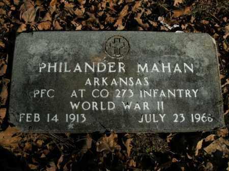 MAHAN  (VETERAN WWII), PHILANDER - Boone County, Arkansas | PHILANDER MAHAN  (VETERAN WWII) - Arkansas Gravestone Photos