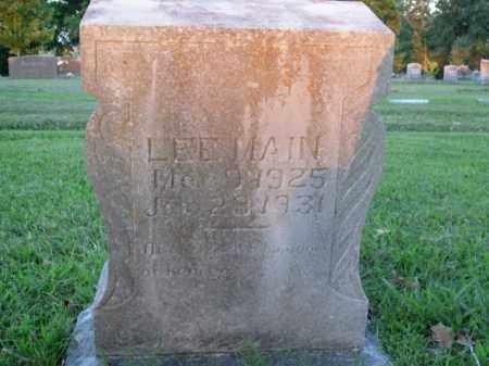 MAIN, LEE ALFRED - Boone County, Arkansas | LEE ALFRED MAIN - Arkansas Gravestone Photos