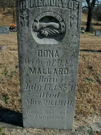 MALLARD, DONA - Boone County, Arkansas | DONA MALLARD - Arkansas Gravestone Photos