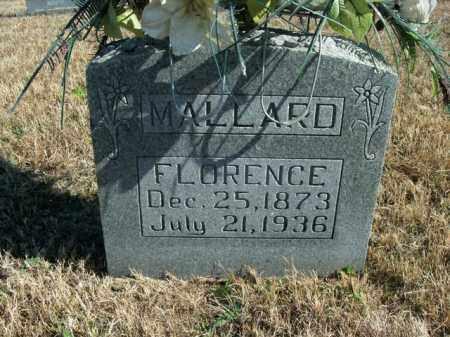 MALLARD, FLORENCE - Boone County, Arkansas   FLORENCE MALLARD - Arkansas Gravestone Photos