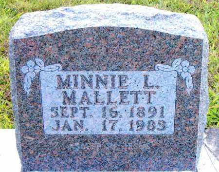MALLETT, MINNIE  L. - Boone County, Arkansas | MINNIE  L. MALLETT - Arkansas Gravestone Photos