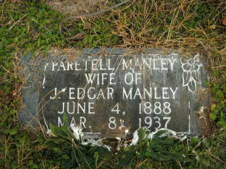 MANLEY, PARETELL - Boone County, Arkansas   PARETELL MANLEY - Arkansas Gravestone Photos