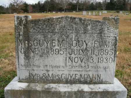 MANN, GUY E. - Boone County, Arkansas | GUY E. MANN - Arkansas Gravestone Photos