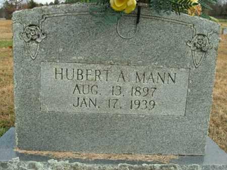 MANN, HUBERT A. - Boone County, Arkansas | HUBERT A. MANN - Arkansas Gravestone Photos