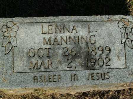 MANNING, LENNA L. - Boone County, Arkansas | LENNA L. MANNING - Arkansas Gravestone Photos