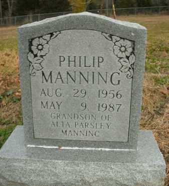 MANNING, PHILIP - Boone County, Arkansas | PHILIP MANNING - Arkansas Gravestone Photos