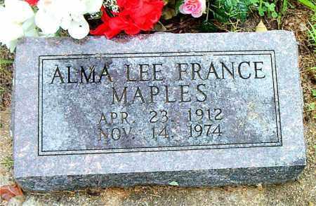 FRANCE MAPLES, ALMA LEE - Boone County, Arkansas | ALMA LEE FRANCE MAPLES - Arkansas Gravestone Photos