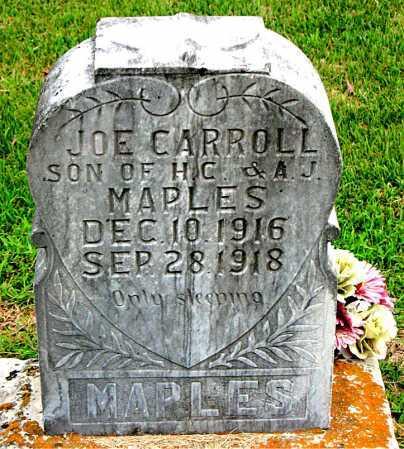 MAPLES, JOE CARROLL - Boone County, Arkansas   JOE CARROLL MAPLES - Arkansas Gravestone Photos