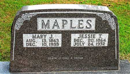 MAPLES, JESSIE T. - Boone County, Arkansas | JESSIE T. MAPLES - Arkansas Gravestone Photos