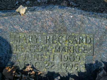 RECKARD MARKEE, MARY - Boone County, Arkansas | MARY RECKARD MARKEE - Arkansas Gravestone Photos