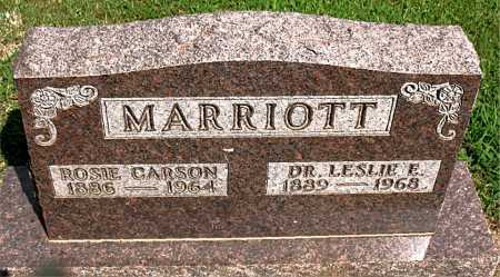 MARRIOTT, LESLIE E. - Boone County, Arkansas | LESLIE E. MARRIOTT - Arkansas Gravestone Photos