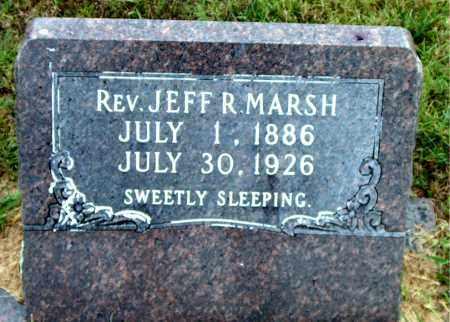 MARSH, REV. JEFF   R. - Boone County, Arkansas   REV. JEFF   R. MARSH - Arkansas Gravestone Photos