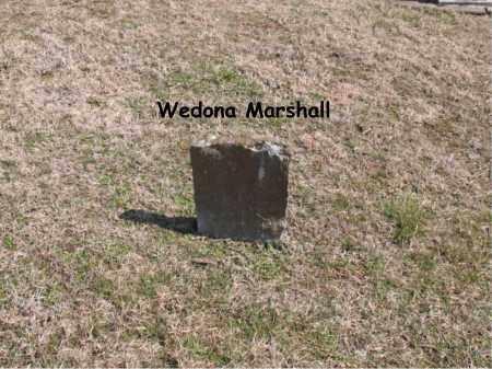 MARSHALL, WEDONA - Boone County, Arkansas | WEDONA MARSHALL - Arkansas Gravestone Photos