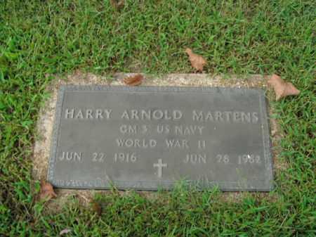 MARTENS  (VETERAN WWII), HARRY ARNOLD - Boone County, Arkansas   HARRY ARNOLD MARTENS  (VETERAN WWII) - Arkansas Gravestone Photos
