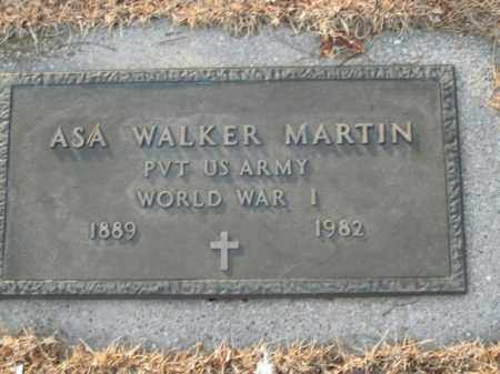 MARTIN  (VETERAN WWI), ASA WALKER - Boone County, Arkansas | ASA WALKER MARTIN  (VETERAN WWI) - Arkansas Gravestone Photos