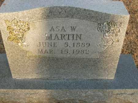 MARTIN, ASA W. - Boone County, Arkansas   ASA W. MARTIN - Arkansas Gravestone Photos