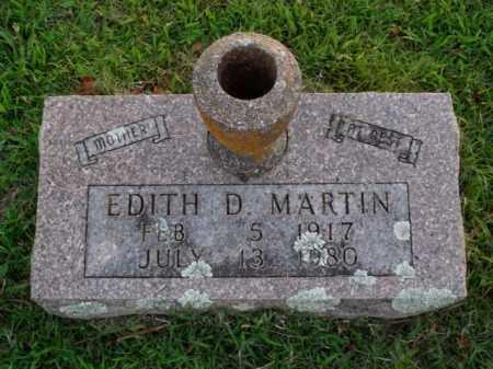 MARTIN, EDITH D. - Boone County, Arkansas   EDITH D. MARTIN - Arkansas Gravestone Photos