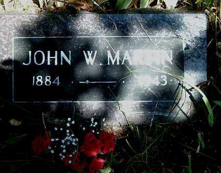 MARTIN, JOHN W. - Boone County, Arkansas | JOHN W. MARTIN - Arkansas Gravestone Photos