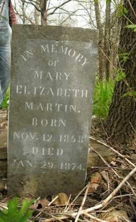 MARTIN, MARY ELIZABETH - Boone County, Arkansas | MARY ELIZABETH MARTIN - Arkansas Gravestone Photos