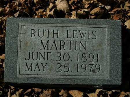 LEWIS MARTIN, RUTH - Boone County, Arkansas | RUTH LEWIS MARTIN - Arkansas Gravestone Photos