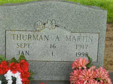MARTIN, THURMAN A. - Boone County, Arkansas   THURMAN A. MARTIN - Arkansas Gravestone Photos