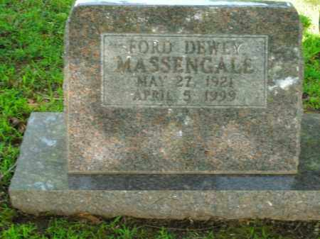 MASSENGALE, FORD DEWEY - Boone County, Arkansas | FORD DEWEY MASSENGALE - Arkansas Gravestone Photos