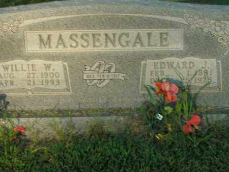MASSENGALE, WILLIE W. - Boone County, Arkansas   WILLIE W. MASSENGALE - Arkansas Gravestone Photos