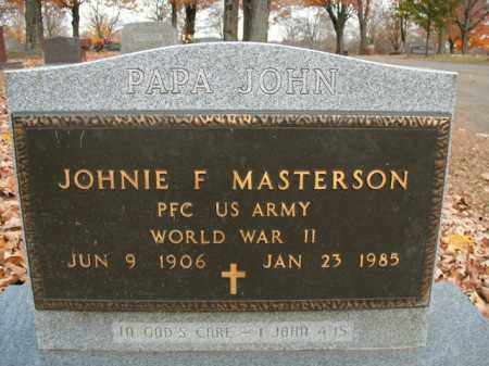 MASTERSON  (VETERAN WWII), JOHNIE FRANK - Boone County, Arkansas | JOHNIE FRANK MASTERSON  (VETERAN WWII) - Arkansas Gravestone Photos