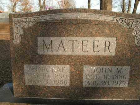 MATEER, JOHN M. - Boone County, Arkansas | JOHN M. MATEER - Arkansas Gravestone Photos