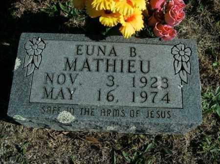 MATHIEU, EUNA B. - Boone County, Arkansas   EUNA B. MATHIEU - Arkansas Gravestone Photos