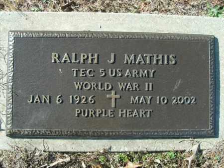 MATHIS (VETERAN WWII), RALPH J. - Boone County, Arkansas | RALPH J. MATHIS (VETERAN WWII) - Arkansas Gravestone Photos